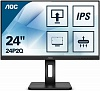 "МОНИТОР 23.8"" AOC 24P2Q Black с поворотом экрана (IPS, 1920x1080, 75Hz, 4 ms, 178° 178°, 250 cd m, 50M:1, +DVI, +HDMI, +"