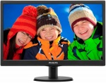 "Монитор 18.5"" PHILIPS 193V5LSB2/10(62) Black (LED, LCD, Wide, 1366x768, 5 ms, 90°/65°, 200 cd/m, 10M:1)"