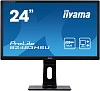 "Монитор Iiyama 24"" B2483HSU-B1DP черный TN+film LED 2ms 16:9 DVI M M матовая HAS Pivot 250cd 170гр 160гр 1920x1080 D-Sub DisplayPort FHD USB 5.2кг"