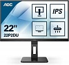 "МОНИТОР 21.5"" AOC 22P2DU Black с поворотом экрана (IPS, 1920x1080, 75Hz, 4 ms, 178° 178°, 250 cd m, 50M:1, +DVI, +HDMI,"