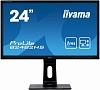 Монитор жидкокристаллический Iiyama Монитор LCD 24'' [16:9] 1920х1080(FHD) TN, nonGLARE, 250cd m2, H170° V170°, 1000:1, 80M:1, 16.7M, 1ms, VGA, DVI, HDMI, Height adj, Pivot, Tilt, Swivel, Speakers, 3Y, Black
