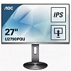 "МОНИТОР 27"" AOC U2790PQU Gray с поворотом экрана (IPS, 3840x2160, 5 ms, 178° 178°, 350 cd m, 50M:1, +HDMI, +HDMI 2.0, +D"