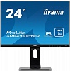 "Монитор Iiyama 24.1"" ProLite XUB2495WSU-B1 черный IPS LED 5ms 16:10 HDMI M M матовая HAS Pivot 1000:1 300cd 178гр 178гр 1920x1200 D-Sub DisplayPort FHD USB 6.6кг"