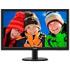 "Монитор Philips 23.6"" 243V5LHSB (00 01) черный TN+film LED 5ms 16:9 DVI HDMI матовая 250cd 1920x1080 D-Sub FHD 3.66кг"