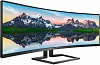 "МОНИТОР 49"" PHILIPS 498P9 00 Black (VA, изогнутый, 5120x1440, 5 ms, 178° 178°, 450 cd m, 80M:1, +2xHDMI 2.0, +DisplayPor"
