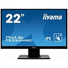 "Монитор Iiyama 21.5"" ProLite T2252MSC-B1 черный IPS LED 5ms 16:9 HDMI M M матовая 3000:1 250cd 178гр 178гр 1920x1080 D-Sub DisplayPort FHD Touch 3.7кг"